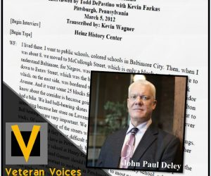 Veteran Voices: The Oral History Podcast – Episode 36