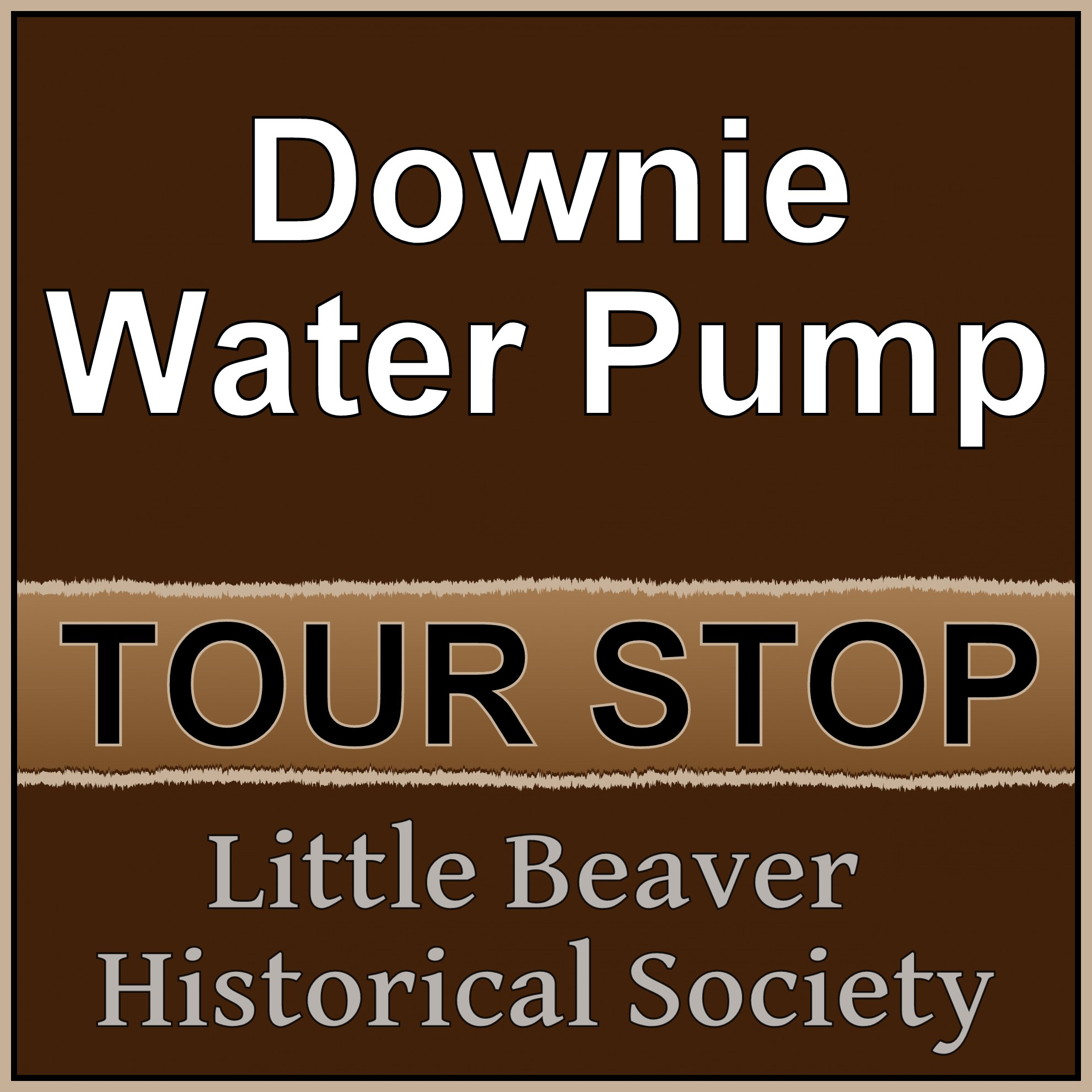 LBHS Tour Stop: Downie Water Pump