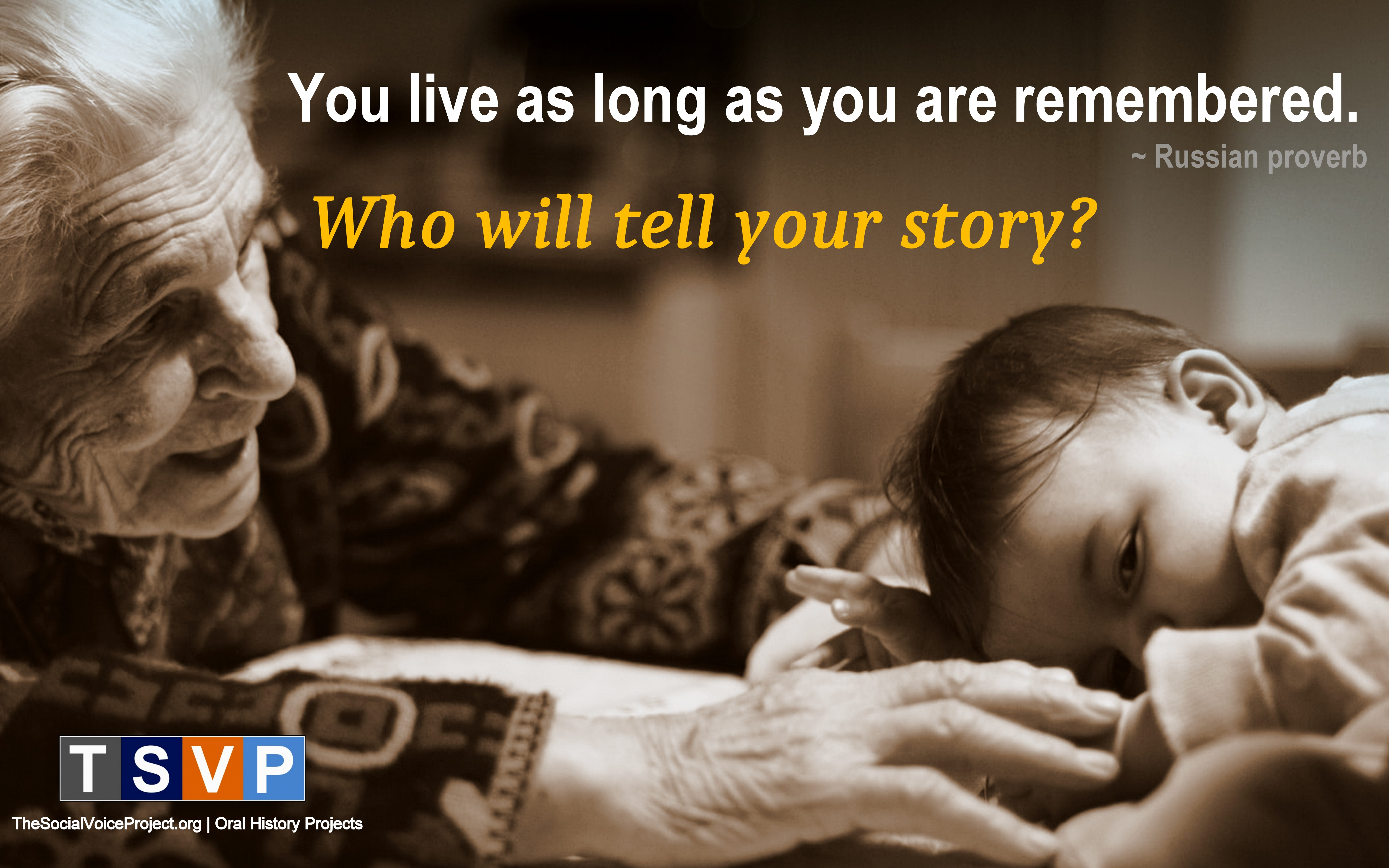 Who Will Tell Your Story?