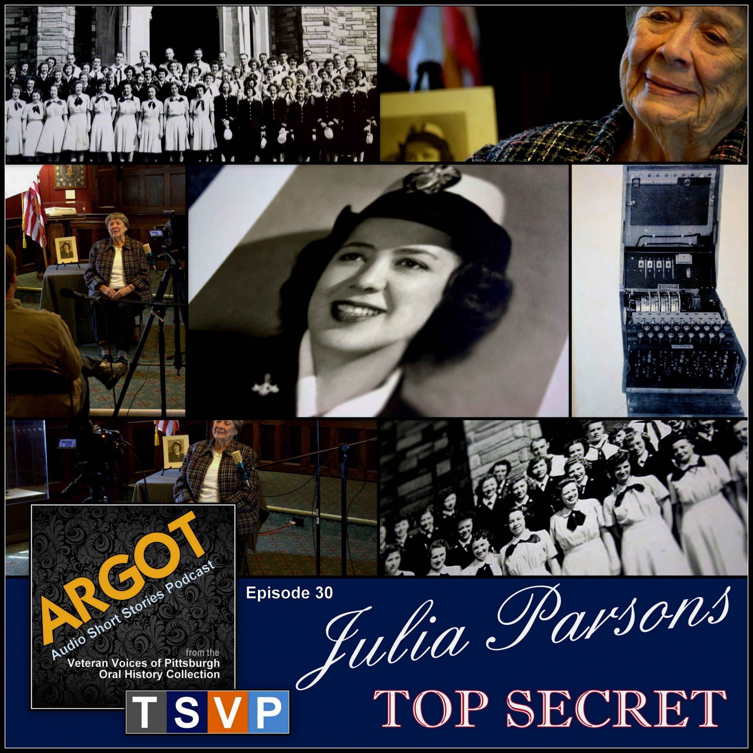Argot: Audio Short Story Collection (Ep30): Julia Parsons – Top Secret
